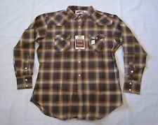 Vintage 1950's Penney's Ranchcraft Cotton Plaid Western Shirt Nos w/Tags sz Xl