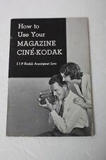 Kodak Magazine Cine-Kodak Movie Camera f1.9 Instruction Manual+English+NICE