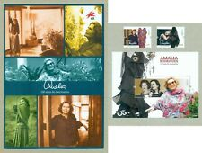 PORTUGAL 2020 AMALIA A VOICE IN EACH OF US - 2 STAMPS + 1 BLOCK + BROCHURE MNH