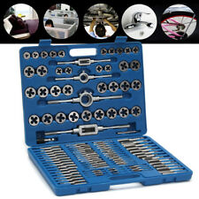 110pcs Metric Tap and Die Set Thread Cutting Edge Holder Repair Tool With Case
