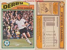 317 PETER DANIELS # ENGLAND DERBY COUNTY.FC CARD PREMIER LEAGUE TOPPS 1978