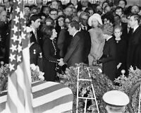 New 8x10 Photo: Richard Nixon and Lady Bird at Funeral for Lyndon B. Johnson