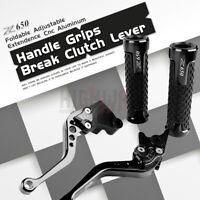 CNC Short Brake Clutch Lever & Handle Grips Bar for KAWASAKI Z650 Z 650 17-19