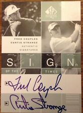 2002 SP Authentic Golf - Sign of the times dual - Fred Couples & Curtis Strange