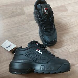 fila black trainers Size uk 4