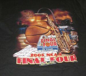 2005 NCAA FINAL FOUR NORTH CAROLINA TARHEELS Champions (MED) T-Shirt SEAN MAY