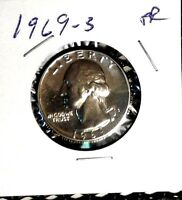 1969 - S  Washington  Quarter Gem Proof    Nice US  Coin