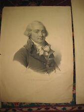 Antique French lithograph Richelieu, A.D. d'Aiguillon (1750-1800), Paris, France