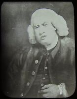 Glass Magic Lantern Slide PORTRAIT OF DR JOHNSON C1890 DRAWING  . JV