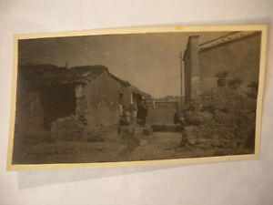1920's Original Chinese Missionary Photograph Missionary On Village Step
