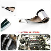 Metallic Heat Shield Sleeve Insulated Wire Hose Cover Wrap For Car Motor atv