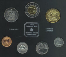 CANADA 1952-2002 7-COIN SPECIMEN SET WITH FAMILY OF LOONS DOLLAR IN BOX COA