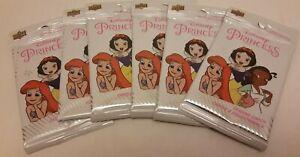 6 pack lot of Disney Princess Upper Deck Trading Cards Ariel Belle Tiana Elsa