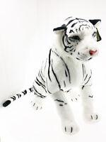 Peluche Tigre Bianca Felino Panthera Tigris Tigri Enorme Gigante Seduta 100 cm