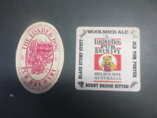 2 only issues LOADED DOG Micro Brewery,1988 Victoria. collectable COASTERS close