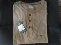 OUTDOOR LIFE Men's Sueded Henley L/S Shirt XXL 2XL 100% Cotton Priority Ship