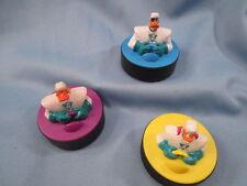McDonalds 1996-1997 Disney Mighty Ducks Lot Sliding Hockey Puck #33 #15 #13