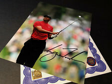 Tiger Woods Authentic Signed 10x8 Photo Genuine autograph + COA