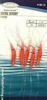 6 Packs Living Shrimp 5 hook size 1/0 fishing mackerel feathers lures sea cod