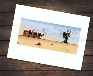 Star Wars Terminator vs Jawas Cartoon Caricature A4 Art Print SIGNED BY ARTIST