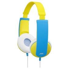 JVC HAKD5Y Tinyphones Stereo Over Ear Headphones For Kids Volume Limiting New UK