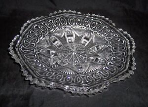 """L G Wright - Crystal  WEDDING RING Pattern 8"""" Round Plate"""