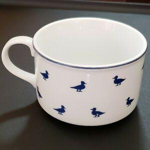 Shafford Blue Ducks Fine Porcelain Soup Mug 12 oz Cup