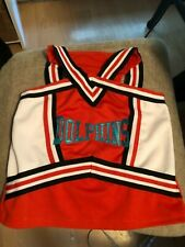 "Girl's Dolphins Orange, Black, White Cheerleading Uniform Top 27"" bust"