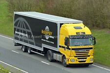 Truck Photo 12x8 - Iveco Stralis - McGimpsey Removals - UJZ 4271