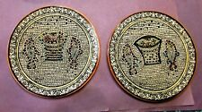 Pair of Vintage Old City Jerusalem  Ceramic  Wall Plates  8 5/8""