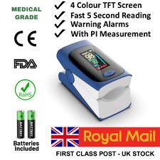 Accurate Pulse Oximeter Monitors Blood Oxygen Saturation, SPO2, Heartbeat, PI.