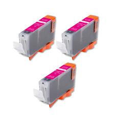 3 Magenta Ink Cartridge + smart chip for CLI-8 CLI-8M MP500 MP530 MP600 MP610