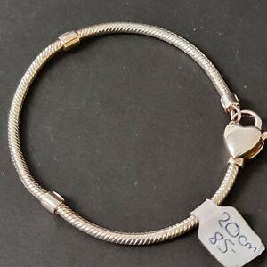 Lovelinks 20cm Heart Clasp 925 Sterling Silver Bracelet
