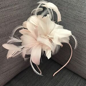 Phase-Eight Luella Feather Flower Headband Fascinator In Cameo Colour