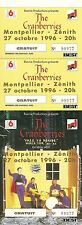 RARE / TICKET DE CONCERT - THE CRANBERRIES LIVE A MONTPELLIER 1996 / COMME NEUF