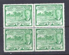 ST CHRISTOPHER, NEVIS & ANGUILLA, 1952 KGV1, 2c  SG 95, MNH BLOCK 4