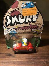 Smurfs Smurfette Ertl Car VW Bug Beetle Vintage Diecast Figurine Toy 1982 Figure