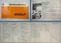 VW Golf I Typ 17 GTI Betriebsanleitung 1976 Bedienungsanleitung