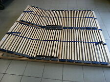 2x 7 Zonen Lattenrost 2x 80x190  = 160x190, Kopfteilverstellbar, Optimalux K