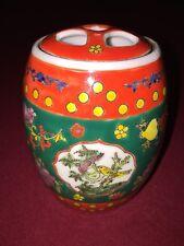 Chinese antique famille rose porcelain Jar Qing Daoguang period handmade rare