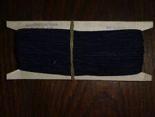 (0,40€/m) dunkelblau Soutache/Litze, Höhe ca. 0,3cm 50m auf der Pappe DDR OPEW
