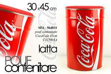 Sedia POUF CONTENITORE COCA COLA LATTA 30*45CM SES 564031