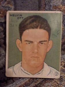 1933 Goudey Mel Ott ....Poor... Scrapbook