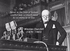 Churchill WW2 Vintage iconique jamais dans le domaine Citation Métal Tin Signe Home Decor