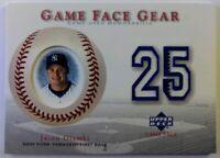 2003 03 Upper Deck Game Face Gear Jason Giambi #GG-JG, New York Yankees