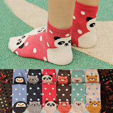 6 Pairs Lot Women Girl Cotton Socks Small Dot Animal Cartoon Cute Lovely Socks