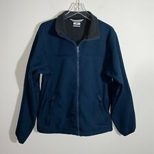 Columbia Fleece Jacket Men's M Navy Blue Long Sleeve Pull Over