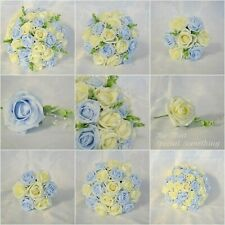 Wedding bouquet Bridesmaids Posy Bridal Flowers Lemon & Baby Blue. 2020 Designs