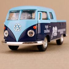 1963 Blue Volkswagen Twincab Delivery Pickup Ute Model Car Die-Cast 1:34 Scale