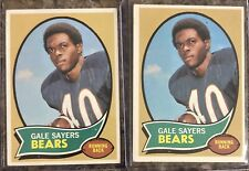 Gale Sayers 1970 Topps #70 Lot (2) Chicago Bears